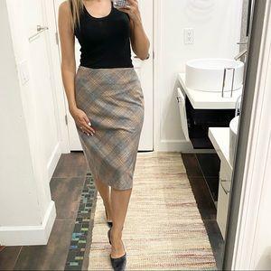Ann Taylor LOFT plaid beautiful midi skirt sz 8